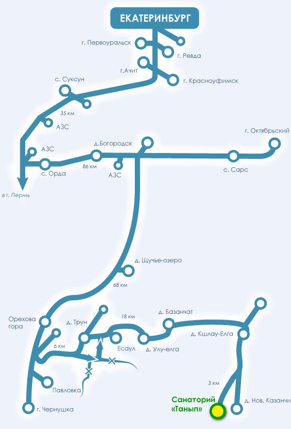 Схема проезда в красноусольск